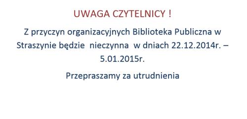 Ogłoszenie Biblioteka 2014-12